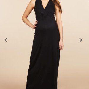 NWT Sleeveless Black Maternity Maxi Dress